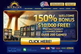 Sun palace casino free spins